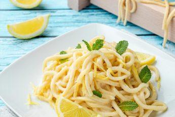 spaghetti alla chitarra al limone