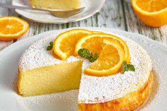 torta di ricotta all'arancia