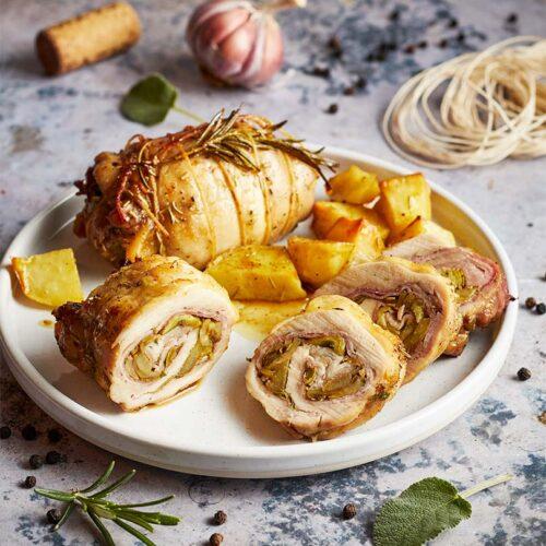 rollè di pollo con carciofi