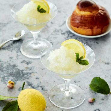 Granita al limone siciliana