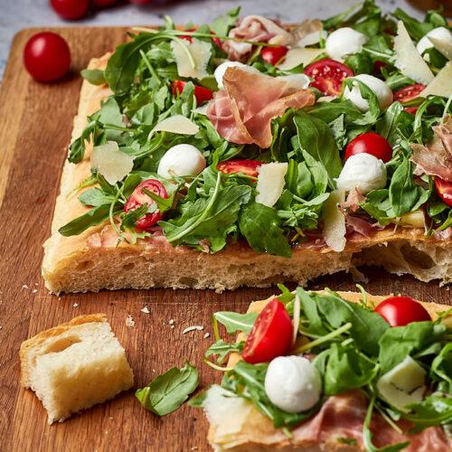 pizza in teglia senza impasto